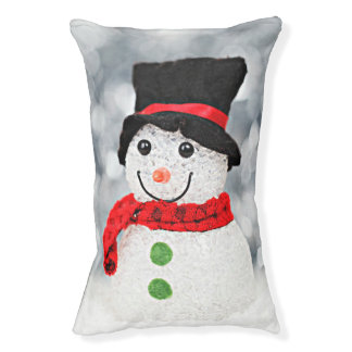 Winter Wonderland Snowman Pet Bed