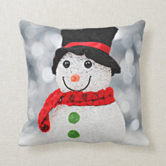 Winter Wonderland Snowman Throw Pillow