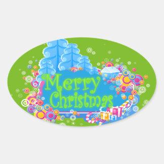Winter Wonderland Oval Sticker