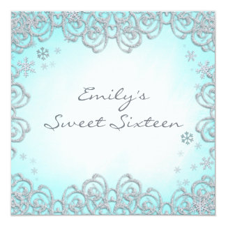 winter wonderland sweet 16 party invitations & announcements, Party invitations