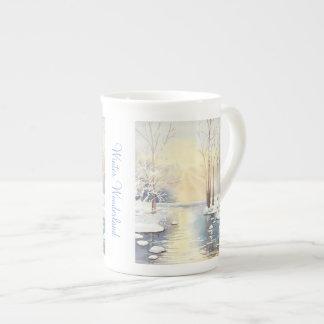 Winter wonderland tea cup