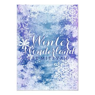 Winter Wonderland Theme BAT MITZVAH Birthday Card