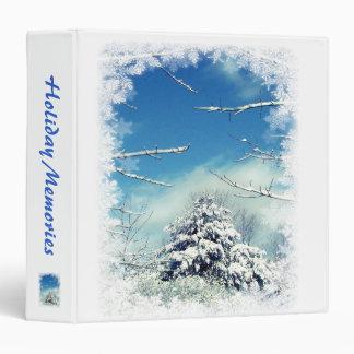 Winter Wonderland Vinyl Binder