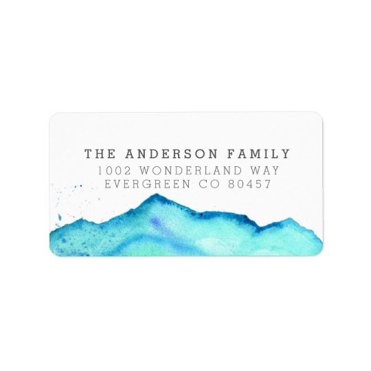 Winter Wonderland | Watercolor Holiday Photo Label