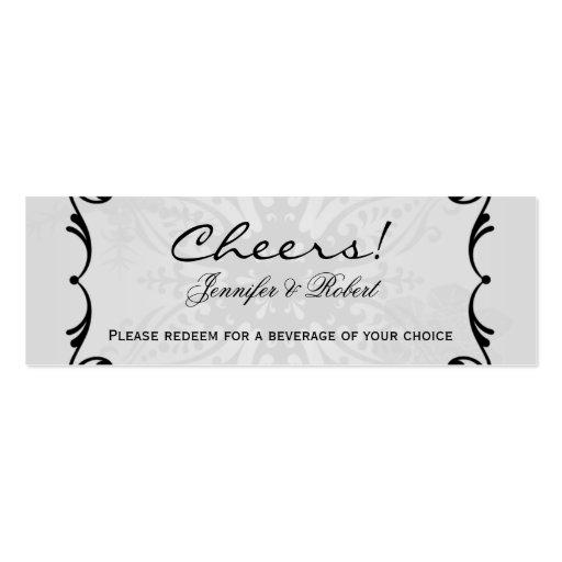 Winter Wonderland Wedding Drink Tickets Business Cards