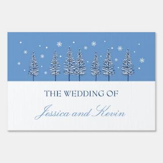 Winter Wonderland Wedding Yard Sign
