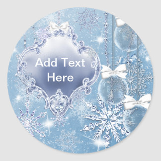 Winter Wonderland Winter Prom Invitations Classic Round Sticker