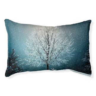 Winter Wonderland with Rabbit Pet Bed