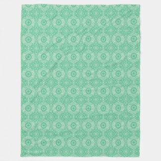 Winter Wonders Decorative Green Fleece Blanket