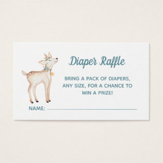 Winter Woodland Baby Shower Diaper Raffle Card