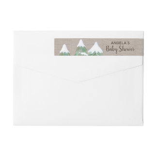 Winter Woodland Baby Shower Wrap Around Label