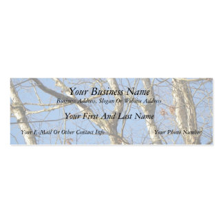 Winter Woodland Business Card Templates