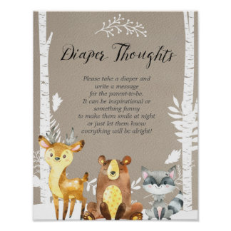 Winter Woodland  Late Night Diapers Poster