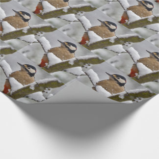 Winter Woodpecker Wrapping Paper