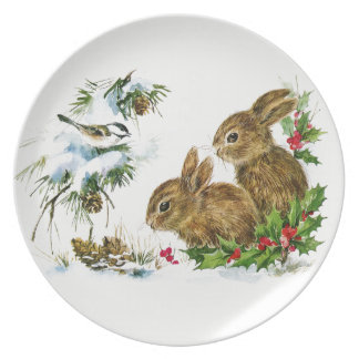 Winter Woods Holiday Plate