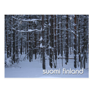 Winter Woods of Suomi Finland Postcard