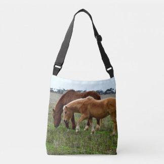 Winter Woolly Horses, Crossbody Bag