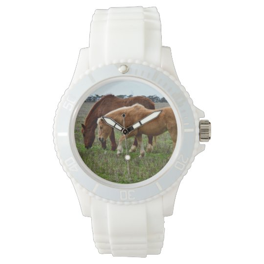 Winter_Woolly_Horses,_Ladies_White_Sports_Watch. Wrist Watch
