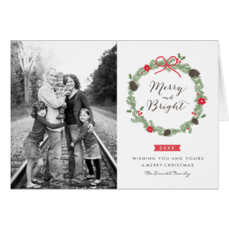 Winter Wreath Christmas Card by Origami Prints