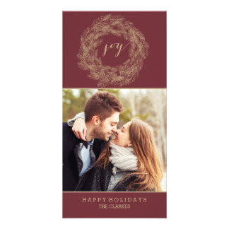 WINTER WREATH   JOY   STYLISH HOLIDAY CARD