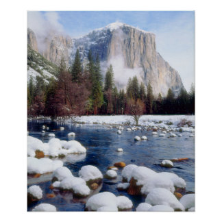 Winter Yosemite National Park Poster
