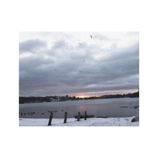 Winterart Photograph Lake Winnemaug Canvas Print