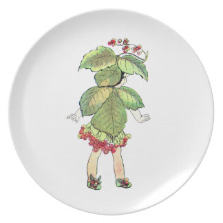 Winterberry fairy party plate