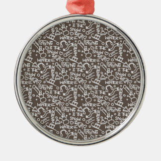 Wintergames Decoration Silver-Colored Round Ornament