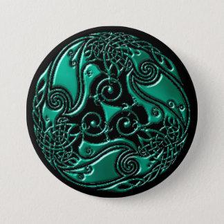 Wintergreen Celtic Ravens Button