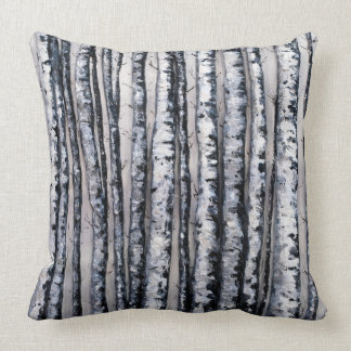 Winter's Contrasts by Fine Artist Alison Galvan Throw Pillow