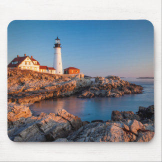 Winters dawn at Portland Head Lighthouse Mouse Pad