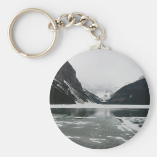 Winter's End, Lake Louise Basic Round Button Keychain