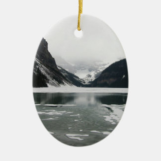 Winter's End, Lake Louise Ceramic Ornament