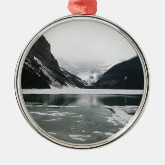 Winter's End, Lake Louise Metal Ornament
