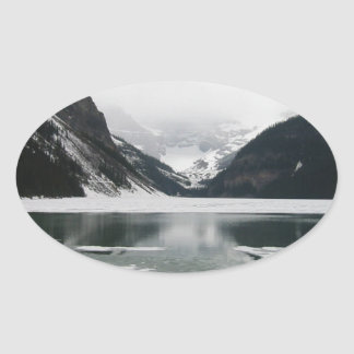 Winter's End, Lake Louise Oval Sticker