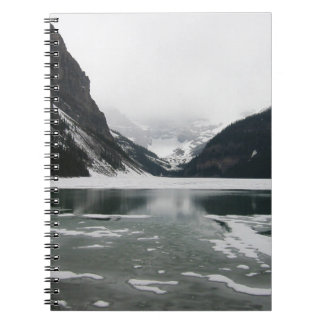 Winter's End, Lake Louise Spiral Notebook