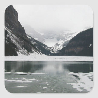 Winter's End, Lake Louise Square Sticker