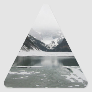 Winter's End, Lake Louise Triangle Sticker