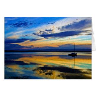 Winter's Last Sunset 3 Card