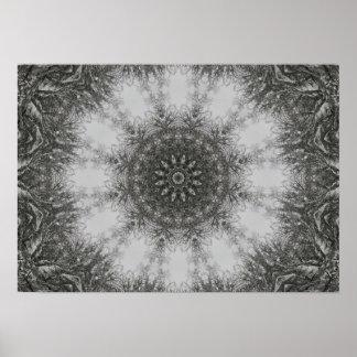 Winter's Mandala Poster