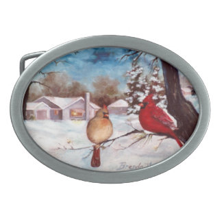 Winters Serenity Cardinal Belt Buckle