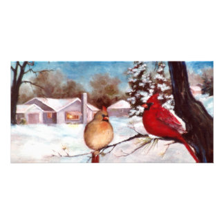 Winters Serenity Cardinal Photo Card