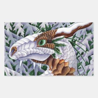 Winters Silent Steps Dragon Sticker