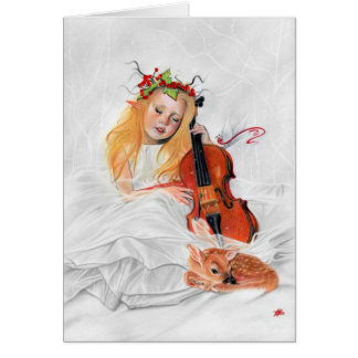 Winter's Song Elven Princess Greeting Card