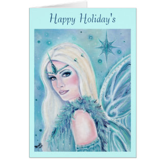 Winter's song fairy card by Renee Lavoie