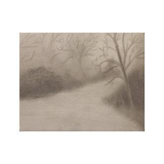 Winters walk canvas print