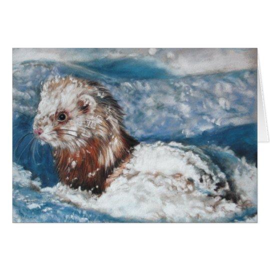 Winter's wondrous Ferret Card
