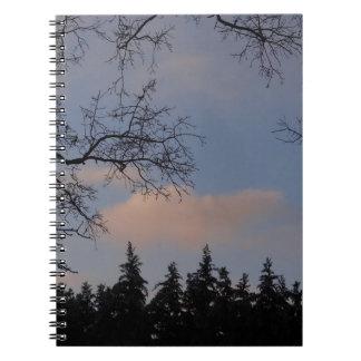WinterSky Spiral Notebook