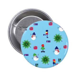 Wintertime Ice Rink 2 Inch Round Button