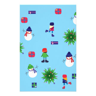 Wintertime Ice Rink Customized Stationery